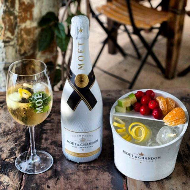 Moet ice fruit bucket